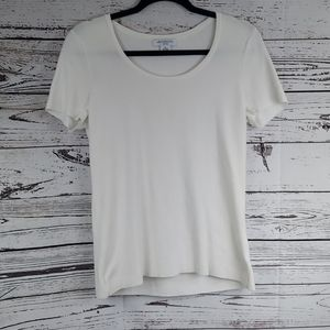 Tops - Liz Claiborne ribbed white top  size petite large
